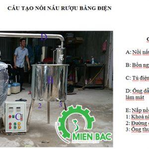 Hướng dẫn lắp đặt và sử dụng nồi nấu rượu bằng điện